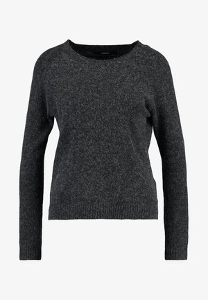 VMDOFFY O NECK - Jumper - black/melange