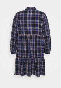 New Look Curves - BUTTON FRONT CHECK SMOCK MINI - Denní šaty - blue - 1