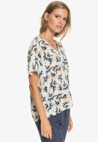 Roxy - HEY NOW - Print T-shirt - snow white aqua ditsy - 3