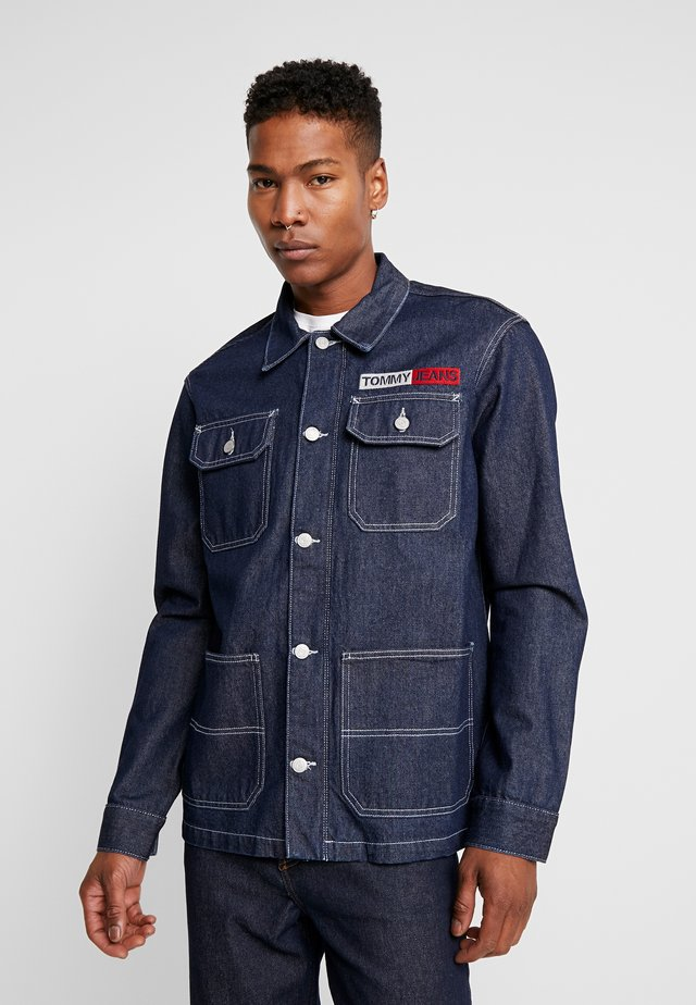 OVERSIZE WORKWEAR JACKET - Veste en jean - dark blue denim