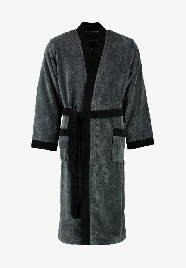 JACK - Dressing gown - anthrazit/schwarz