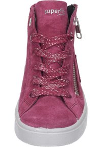 Superfit - Lace-up ankle boots - rot - 4