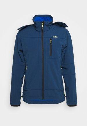 MAN ZIP HOOD JACKET - Soft shell jacket - blue ink