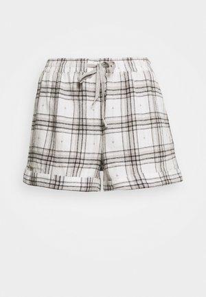 CHECK SHORT - Pyjama bottoms - grey mix