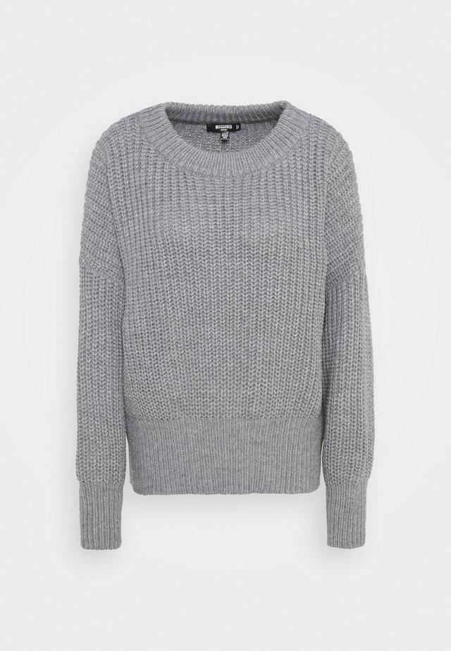 SHOULDER LIP JUMPER DRESS - Pullover - grey