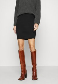 Vero Moda - VMSANNA SKIRT - Mini skirt - black - 0