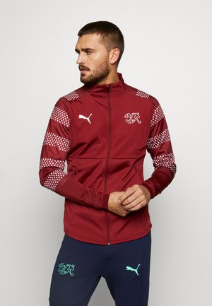 SCHWEIZ SFV STADIUM JACKET - Veste de survêtement - pomegranate