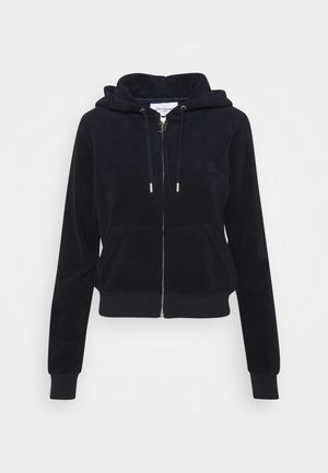 ROBERTSON TOWELLING - Zip-up hoodie - black