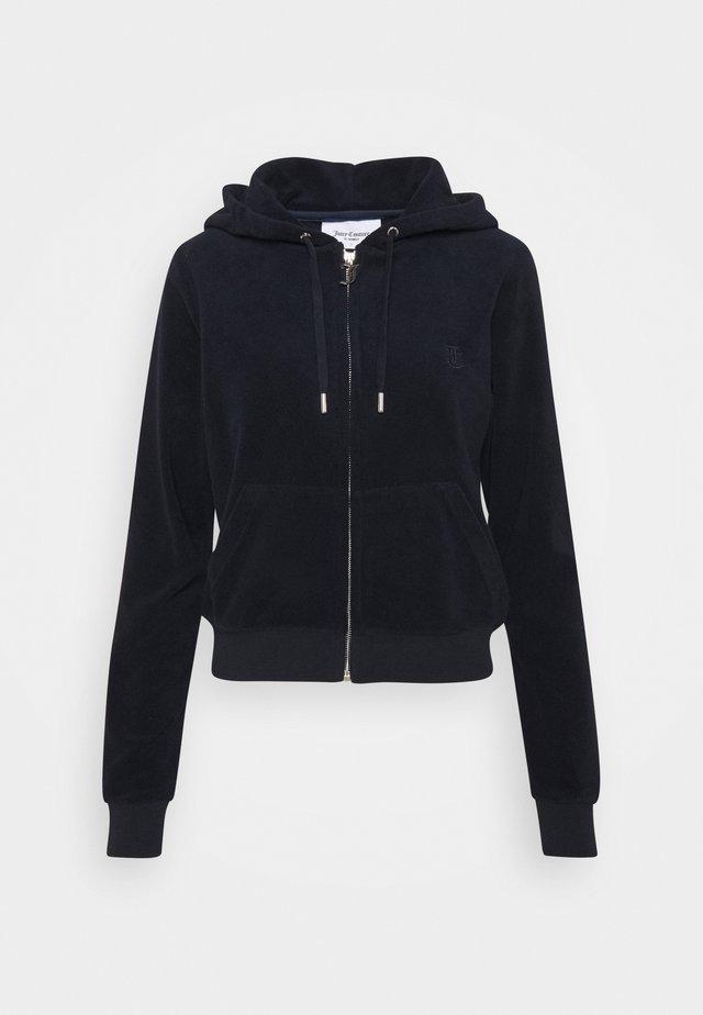 ROBERTSON TOWELLING - Zip-up hoodie - black