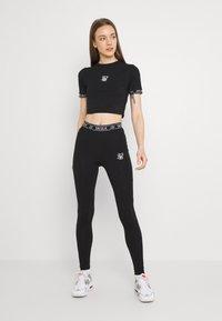 SIKSILK - CORE LEGGINGS - Leggings - Trousers - black - 1