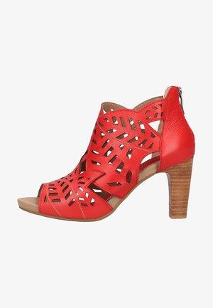 High Heel Sandalette - rouge