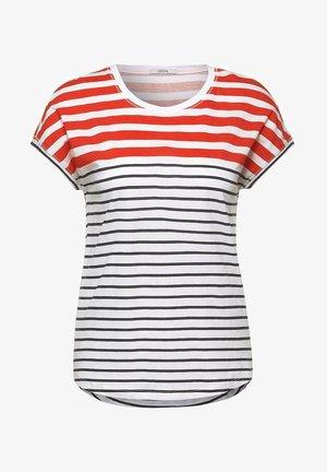 Print T-shirt - white red