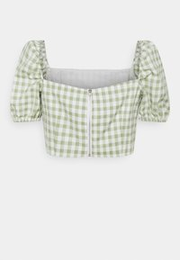 Glamorous Petite - TOP WITH PUFF SHORT SLEEVES AND LOW NECKLINE - Blouse - mint - 1