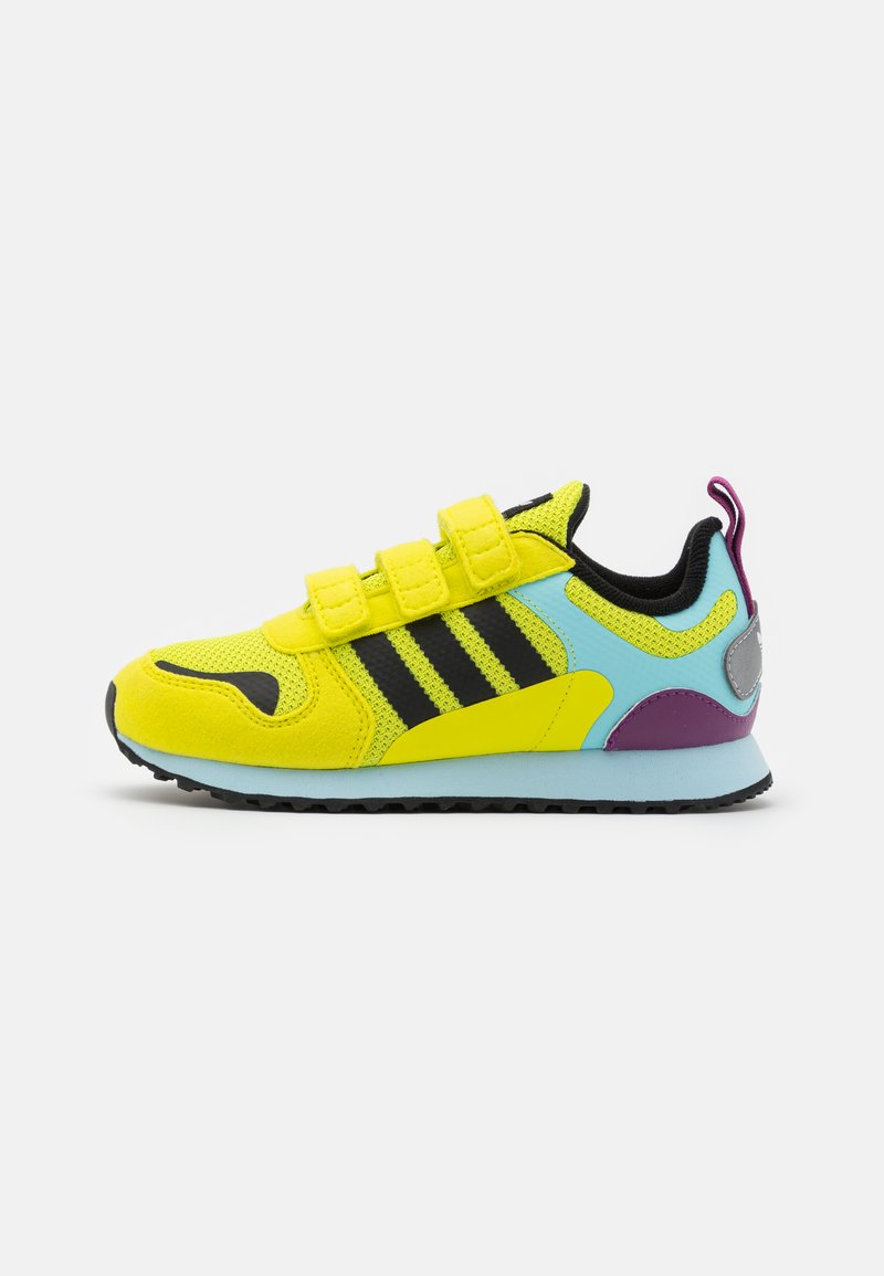 adidas Originals - ZX 700 HD UNISEX  - Trainers - acid yellow/core black/haze sky