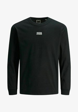 LONGSLEEVE GEBÜRSTET - Long sleeved top - black