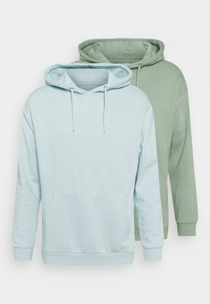 2 PACK - Hoodie - green/light blue