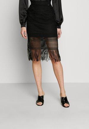 EDITH SKIRT - Pencil skirt - jet black