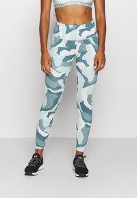 Under Armour - RUSH CAMO LEGGING - Leggings - seaglass blue - 0