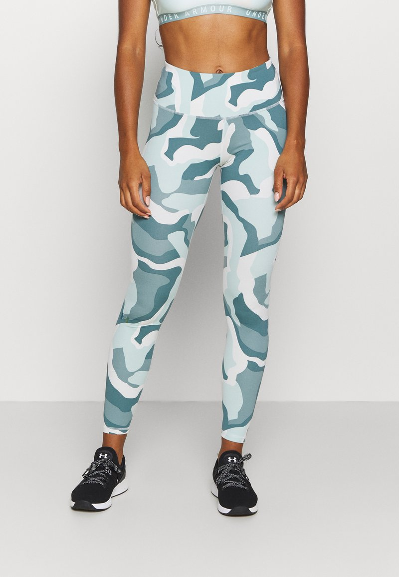 Under Armour - RUSH CAMO LEGGING - Leggings - seaglass blue