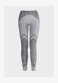 Wolford - CAMERON - Leggings - Stockings - ash/black - 0