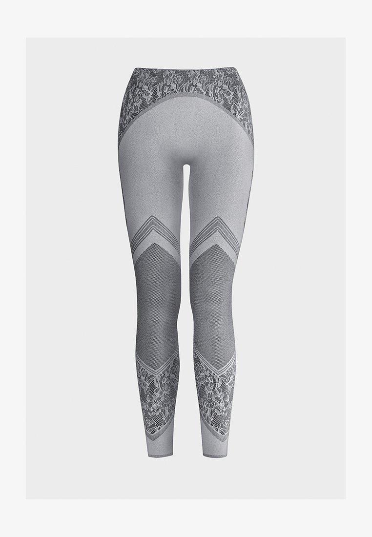 Wolford - CAMERON - Leggings - Stockings - ash/black
