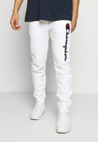 Champion - ROCHESTER CUFF PANTS - Spodnie treningowe - white - 0