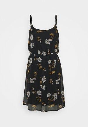 VMMELLIE SINGLET SHORT DRESS - Jersey dress - black/mellie