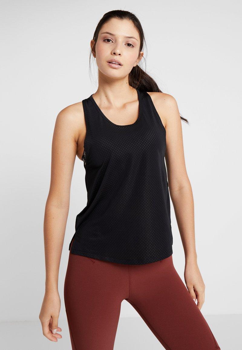 Nike Performance - MILER TANK BREATHE - Sports shirt - black/reflective silver