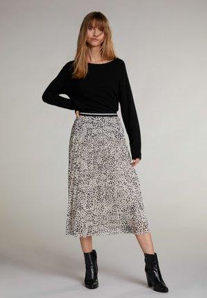 A-line skirt - black camel