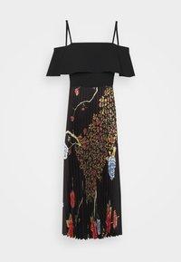 PLEATED COLD SHOULDER RECYCLED DRESS - Denní šaty - jumbo black