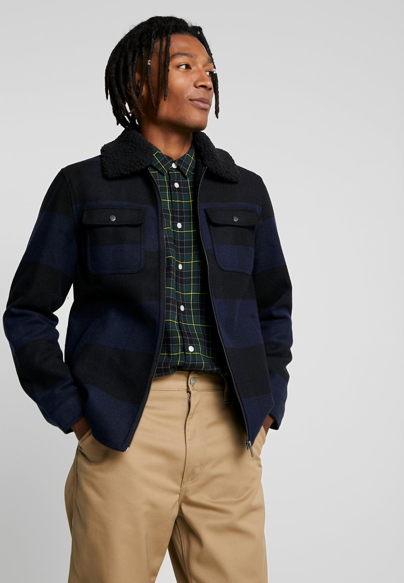Only & Sons - ONSROSS CHECK SHORT JACKET - Tunn jacka - estate blue/black