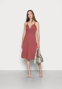 WAL G. - LILLIANA FLARE MIDI DRESS - Cocktail dress / Party dress - dusty rose pink - 1