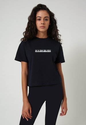 S BOX CROPPED - Print T-shirt - blu marine