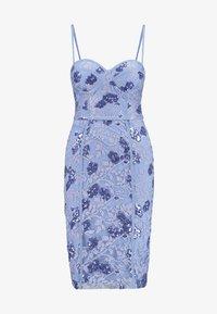 Rare London - SEQUIN DETAIL MIDI DRESS - Vestido de cóctel - blue - 6