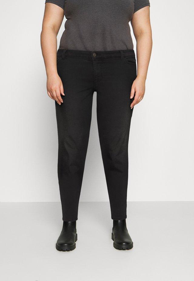 PCNEW - Skinny džíny - black denim