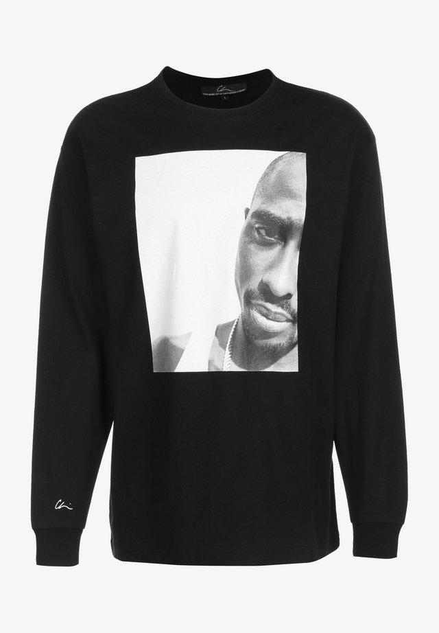 REALITY 3 - Långärmad tröja - black/print white