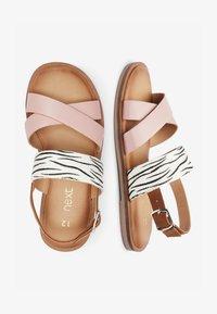 Next - PINK/ ZEBRA CROSS STRAP SANDALS (OLDER) - Sandals - pink - 1