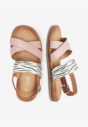 PINK/ ZEBRA CROSS STRAP SANDALS (OLDER) - Sandals - pink