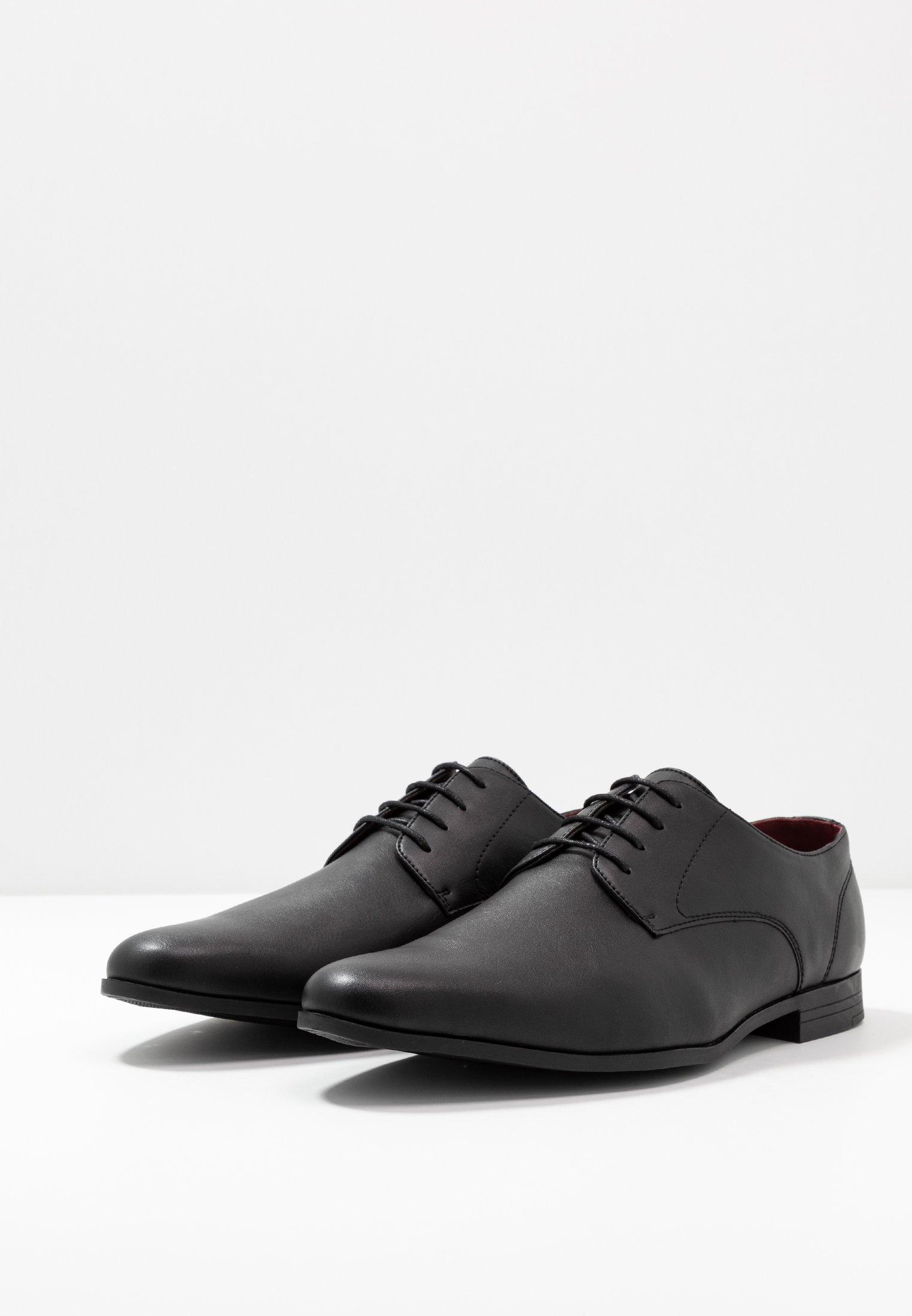 Burton Menswear London FREDDY - Eleganta snörskor - black/svart - Herrskor LNjcw