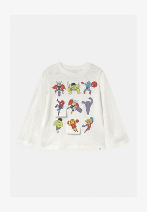 TODDLER BOY FLIPPY GRAPHIC - Top s dlouhým rukávem - new off white