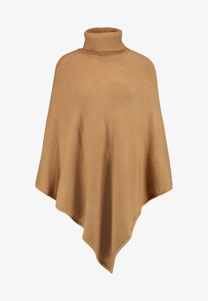 VIRIL ROLLNECK PONCHO  - Cape - tigers eye/melange
