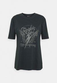 ELLIE TEE - Print T-shirt - offblack