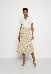 Vila - VIMILINA FLOWER SKIRT - Maxi skirt - sandshell - 1