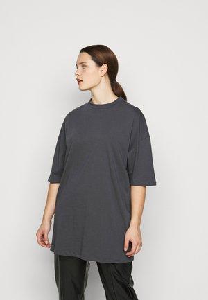 OVERSIZED  DRESS - Jersey dress - charcoal