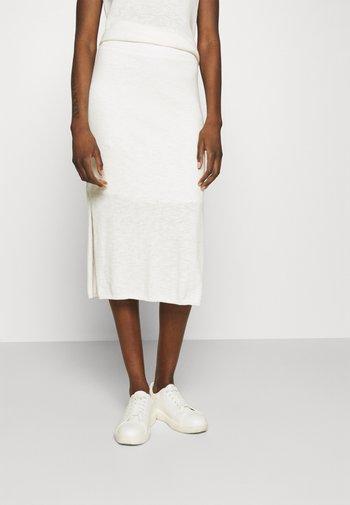 SKIRT - Pencil skirt - snow white