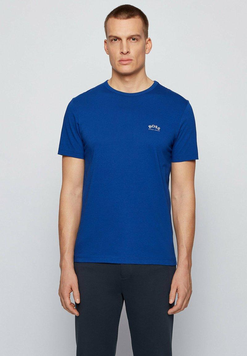 BOSS - TEE CURVED - Basic T-shirt - blue