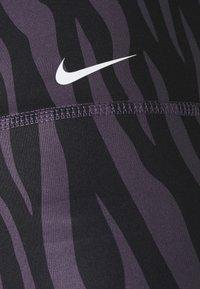 Nike Performance - ONE - Leggings - dark raisin/white - 7