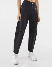 Bershka - Straight leg jeans - dark grey - 0