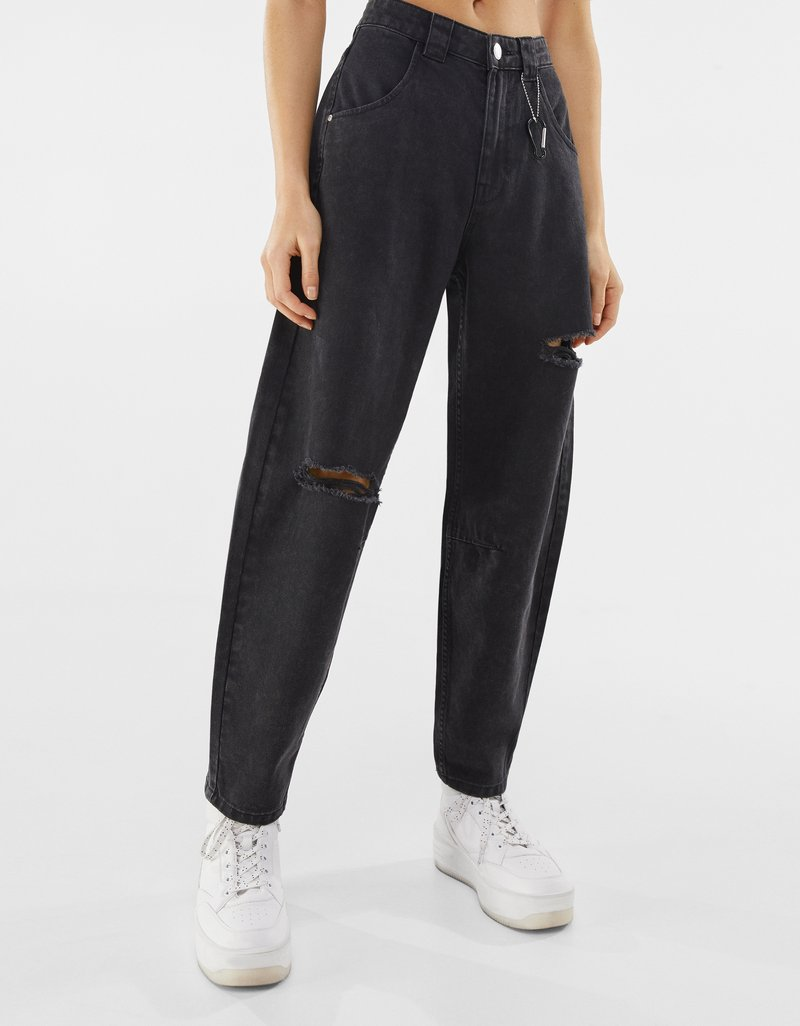 Bershka - Straight leg jeans - dark grey