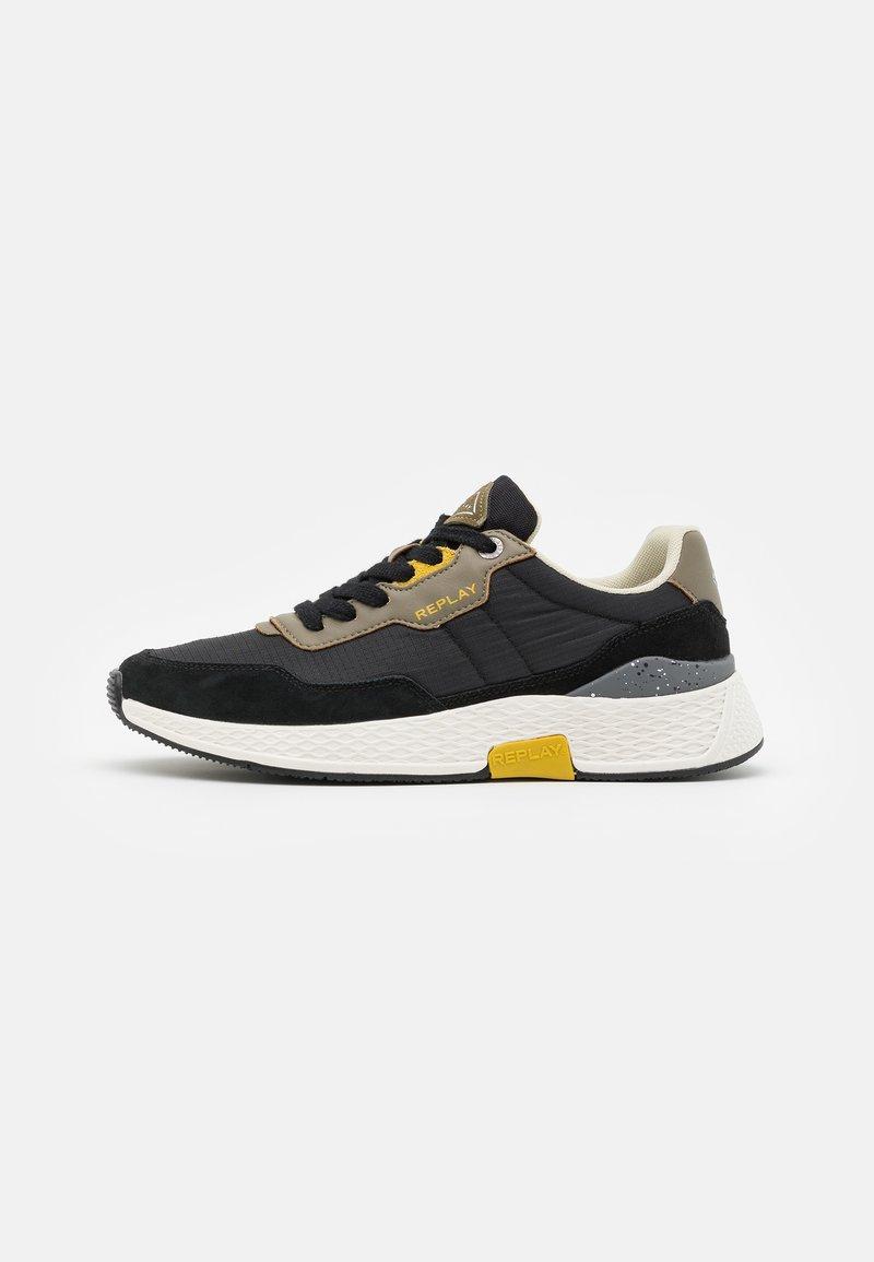 Replay - STONE MAN - Sneakers laag - black/military green/yellow